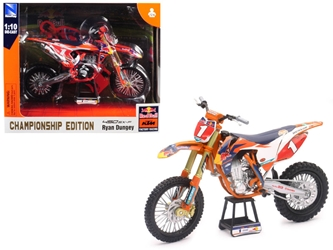 "KTM 450 SX-F #1 Ryan Dungey ""Red Bull Factory Racing"" Championship Edition 1/10 Diecast Motorcycle Model by New Ray by New Ray Item Number 57953"