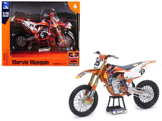 "KTM 450 SX-F #25 Marvin Musquin ""Red Bull Factory Racing"" 1/10 Diecast Motorcycle Model by New Ray by New Ray Item Number 57963"