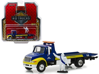 "International Durastar Flatbed ""Michelin"" with Michelin Man Figure ""H.D. Trucks"" Series 15 1/64 Diecast Model by Greenlight by Greenlight Item Number GLC33150C"