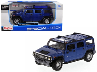 2003 Hummer H2 SUV Blue 1/27 Diecast Model Car by Maisto by Maisto Item Number: MST31231BL