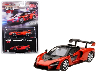 McLaren Senna Mira Orange Limited Edition to 4,800 pieces Worldwide 1/64 by True Scale Miniatures Item number MGT00018