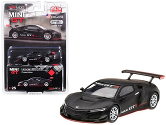 Honda NSX GT3 Presentation Matt Black Limited Edition to 3,600 pieces Worldwide 1/64 by True Scale Miniatures Item number MGT00025