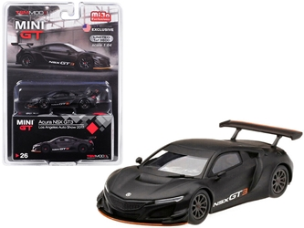 "Acura NSX GT3 Matt Black ""Los Angeles Auto Show 2017"" Limited Edition to 3,600 pieces Worldwide 1/64 by True Scale Miniatures Item number MGT00026"