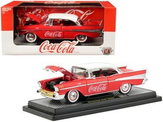 "1957 Chevrolet Bel Air Hardtop ""Coca-Cola"" Red Limited Edition to 9,600 pieces Worldwide 1/24 by M2 Item number 50300-RW03"