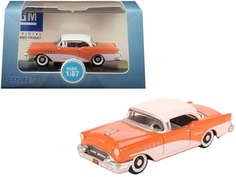 1955 Buick Century Coral and Polo White 1/87 by Oxford Diecast Item number 87BC55002