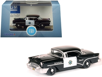 "1955 Buick Century ""California Highway Patrol"" (CHP) Black 1/87 by Oxford Diecast Item number 87BC55003"