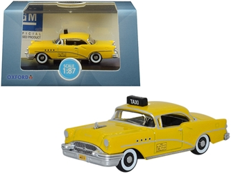 "1955 Buick Century ""New York City Taxi"" Yellow 1/87 by Oxford Diecast Item number 87BC55004"