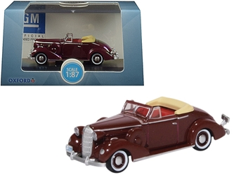 1936 Buick Special Convertible Coupe Cardinal Maroon 1/87 by Oxford Diecast Item number 87BS36003