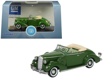 1936 Buick Special Convertible Coupe Balmoral Green 1/87 by Oxford Diecast Item number 87BS36004