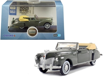 1941 Lincoln Continental Convertible Pewter Gray 1/87 by Oxford Diecast Item number 87LC41003