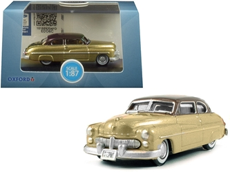 1949 Mercury Coupe Gold with Dark Brown Top 1/87 by Oxford Diecast Item number 87ME49004