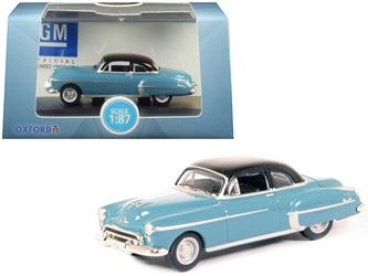 1950 Oldsmobile Rocket 88 Coupe Crest Blue with Black Top 1/87 by Oxford Diecast Item number 87OR50002