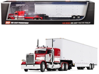 "Peterbilt Model 389 63"" Flattop Sleeper Cab with Kentucky Moving Van Trailer Red and White 1/64 by First Gear Item Number: 60-0515"