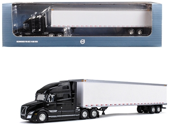 Volvo VNL 760 Sleeper Cab with 53 Trailer Sable Black Metallic and White 1/87 by First Gear Item Number: 80-0324
