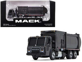 Mack LR with McNeilus ZR Side Loader Refuse Garbage Truck Graphite Gray 1/87 by First Gear Item Number: 80-0331