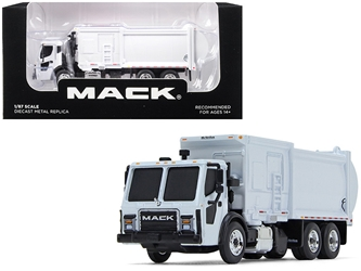 Mack LR with McNeilus ZR Side Loader Refuse Garbage Truck White 1/87 by First Gear Item Number: 80-0332