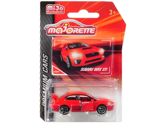 "Subaru WRX STI Red ""Premium Cars"" 1/58 by Majorette Item Number: 3052MJ2"
