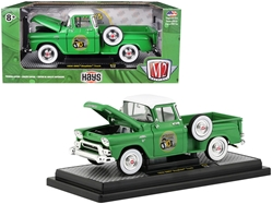 1958 GMC Stepside Pickup Truck Aspen Green with Bright White Top  1/24