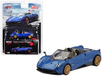 "Pagani Huayra Roadster Blue Francia ""U.S.A. Exclusive"" Limited Edition to 4,800 pieces Worldwide 1/64 Diecast Model Car by True Scale Miniatures"