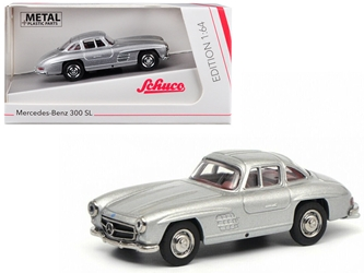 Mercedes Benz 300SL Gullwing Silver 1/64 by Schuco