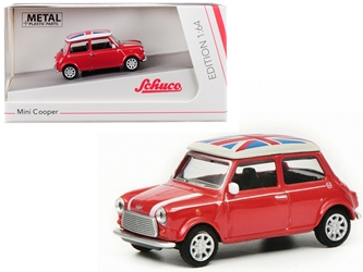 "Mini Cooper ""Union Jack"" Red 1/64 by Schuco"