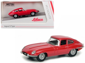 Jaguar E Type Coupe Red 1/64 by Schuco