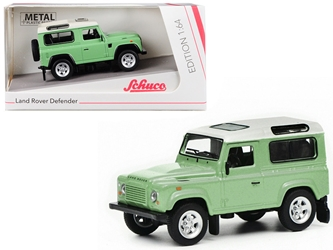Land Rover Defender Green with White Top 1/64 by Schuco