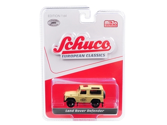 "Land Rover Defender ""Camel"" Brown ""European Classics"" Series 1/64 by Schuco"