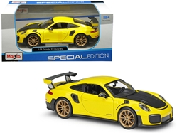 Porsche 911 GT2 RS Yellow with Carbon Hood 1/24