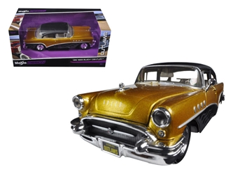 "1955 Buick Century GoldBlack ""Outlaws"" (1:26), Maisto Item Number MST32507GLD"