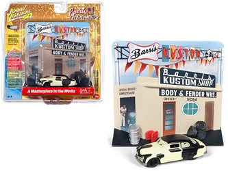 "1949 Mercury Coupe Project Car with ""Barris Kustom Shop"" Facade Diorama "" 50th Anniversary"" 1/64"