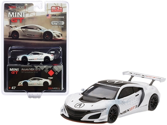 "Acura NSX GT3 White ""New York Auto Show 2016"" Limited Edition to 3,600 pieces Worldwide 1/64"
