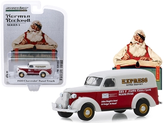"1939 Chevrolet Panel Truck Red and White ""Express Letter Delivery"" ""Norman Rockwell"" Series 2 1/64"