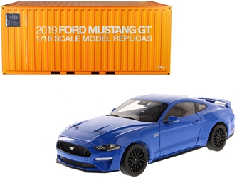 2019 Ford Mustang GT 5.0 Coupe Kona Blue 1/18