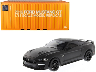 2019 Ford Mustang GT 5.0 Coupe Matt Black 1/18