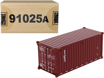 "20 Dry Goods Sea Container ""TEX"" Burgundy ""Transport Series"" 1/50"
