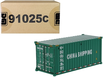 "20 Dry Goods Sea Container ""China Shipping"" Green ""Transport Series"" 1/50"