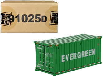 "20 Dry Goods Sea Container ""EverGreen"" Green ""Transport Series"" 1/50"