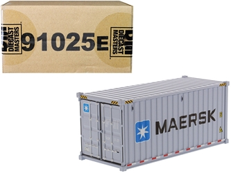 "20 Dry Goods Sea Container ""MAERSK"" Gray ""Transport Series"" 1/50"