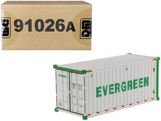 "20 Refrigerated Sea Container ""EverGreen"" White ""Transport Series"" 1/50"