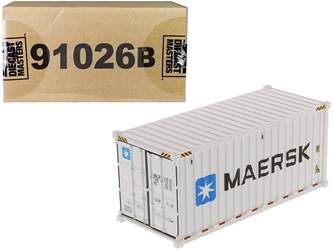 "20 Refrigerated Sea Container ""MAERSK"" White ""Transport Series"" 1/50"