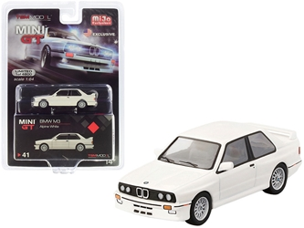 BMW M3 (E30) Alpine White Limited Edition to 4,800 pieces Worldwide 1/64 by True Scale Miniatures <p> Item Number: MGT00041