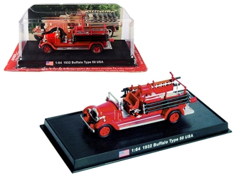 1932 Buffalo Type 50 Fire Engine (Montville, New Jersey) 1/64 by Amercom <p> Item Number: ACSF52