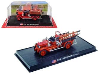 "1923 Maxim C1 Fire Engine ""Houston Fire Department"" (H.F.D.) (Houston, Texas) 1/64 by Amercom <p> Item Number: ACSF58"