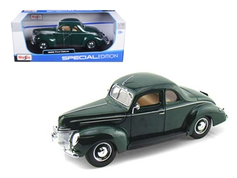 1939 Ford Deluxe Tudor Green 1/18 Diecast Model Car by Maisto, Maisto Item Number MST31180GRN