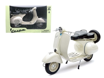 1955 Vespa 150 VL 1T Beige Motorcycle Scooter 1/6 Diecast Model by New Ray, New Ray Item Number 49273