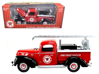 "1940 Ford Fire Truck ""Texaco"" Red 1/18 Diecast Model Car by Beyond Infinity, Beyond The Infinity Item Number 608"