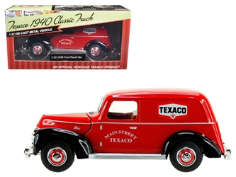 "1940 Ford Panel Van ""Texaco"" Red 1/32 Diecast Model Car by Beyond Infinity, Beyond The Infinity Item Number 611"