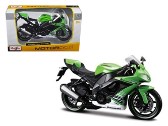2010 Kawasaki Ninja ZX-10R Green Bike (1:12) Motorcycle Model, Maisto Item Number MST31187