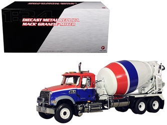 Mack Granite MP Concrete Mixer 1/34 Diecast Car Model by First Gear, First Gear Item Number 765458